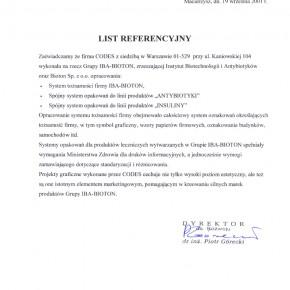 Referencje IBA BIOTON