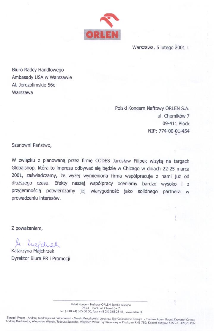 Referencje ORLEN