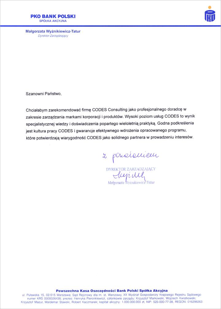 Referencje PKO BP